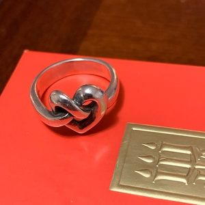 James Avery Heart Knot Ring Size 5